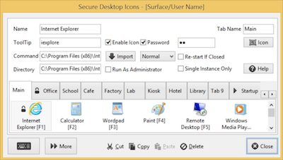 Secure Desktop Icon Configuration